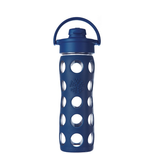 Lifefactory Blue Flip Top Glass 16oz Bottle