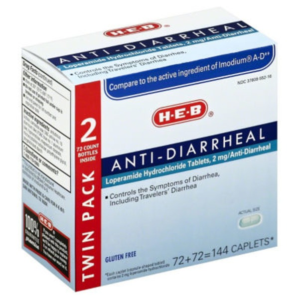 H-E-B Anti Diarrheal Twin Pack Caplets