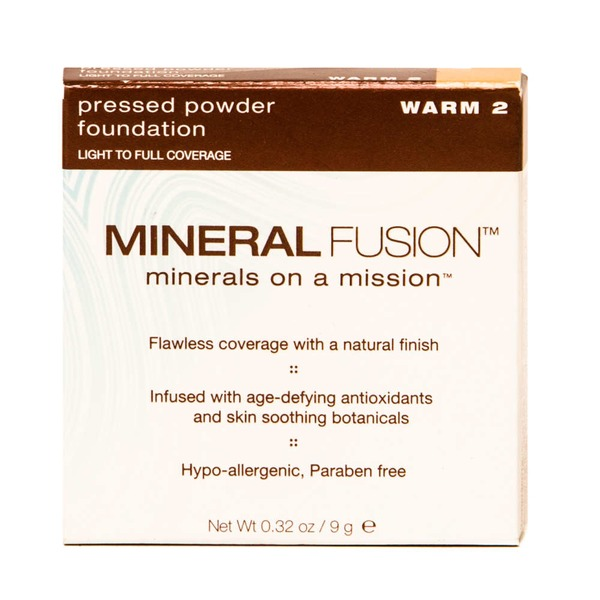 Mineral Fusion Pressed Powder Foundation - Warm