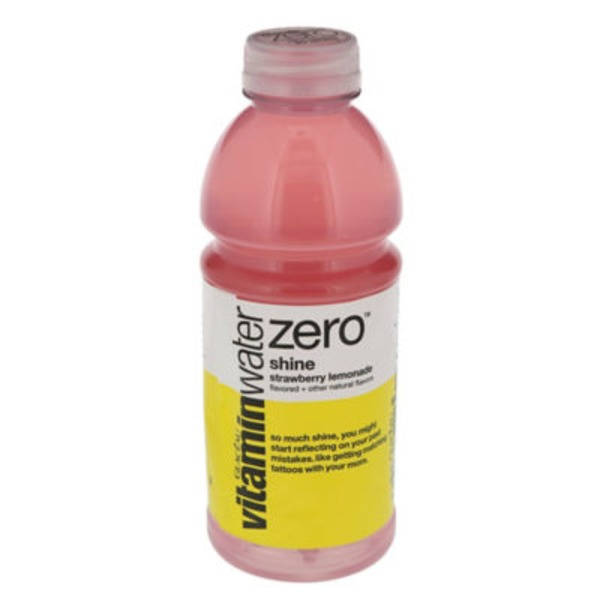 Glaceau Vitaminwater Zero Shine Strawberry Lemonade Nutrient Water Beverage
