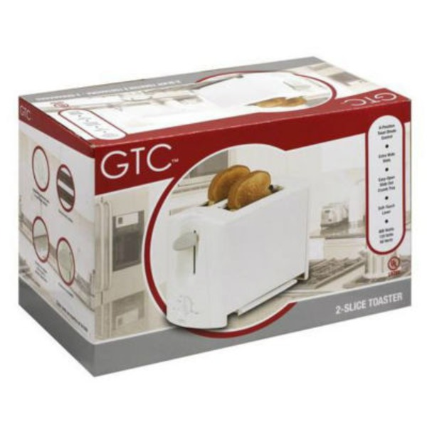 GTC White Pop Up Toaster