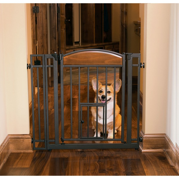 Carlson Pet Products Design Studio Metal Walk-Through Gate