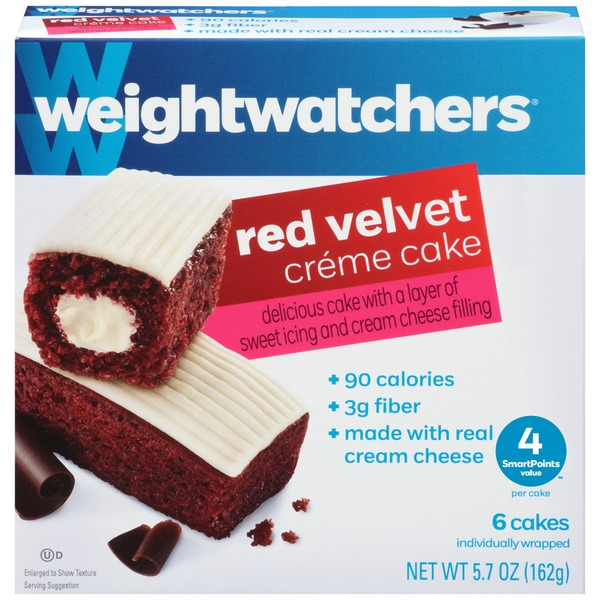 Weight Watchers Sweet Baked Goods Red Velvet Creme Cake