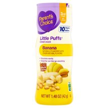 Parent's Choice Little Puffs, Stage 3, Banana Cereal Snack, 1.48oz