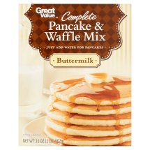 Great Value Pancake & Waffle Mix, Buttermilk, 32 oz
