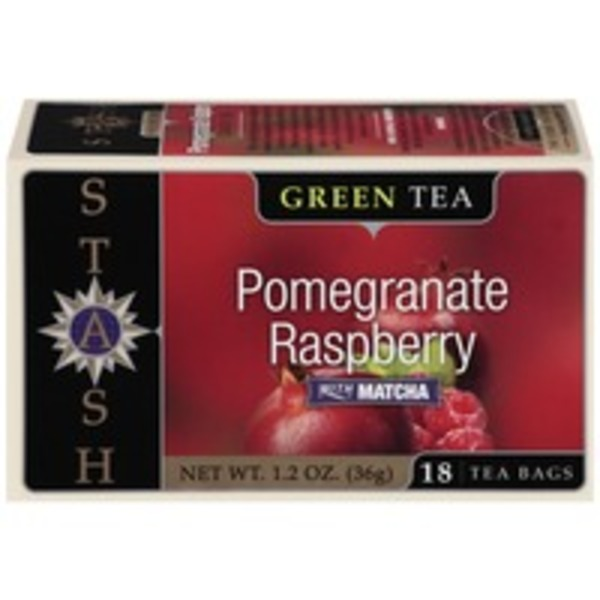 Stash Tea Green Tea Pomegranate Raspberry with Matcha