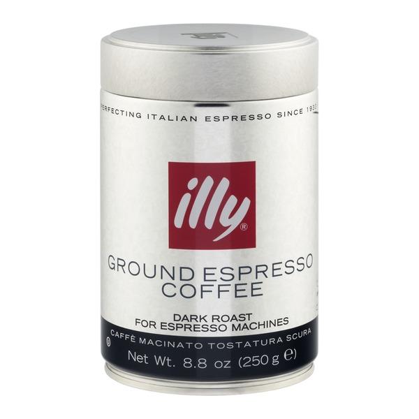 Illy Ground Espresso Coffee Dark Roast
