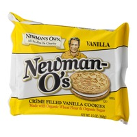 Newman's Own Organics Newman-O's Creme Filled Vanilla Cookies