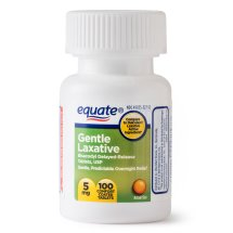 Equate Gentle Laxative Bisacodyl Coated Tablets, 5 mg, 100 Ct