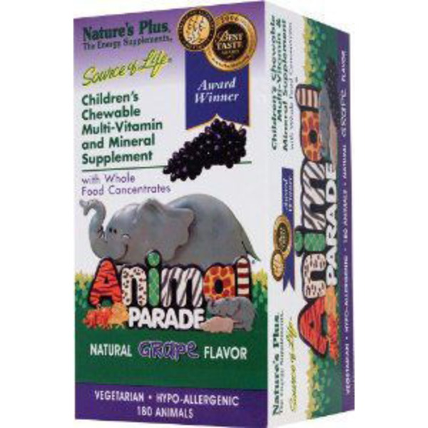 Nature's Plus Animal Parade Children's Grape Multi-Vitamin Chewable Tablets