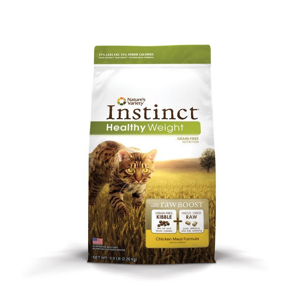 Nature's Variety Instinct Healthy Weight Grain Free Chicken Meal Cat Food 5 Lbs.