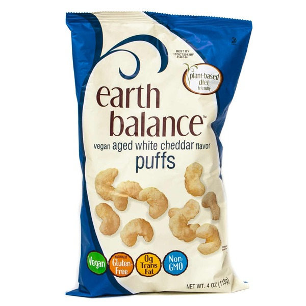 Earth Balance Vegan Aged White Cheddar Puffs