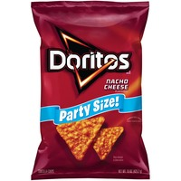 Doritos Chips Nacho Cheese Party Size Tortilla Chips 15.0 Ounce Plastic Bag Tortilla Chips