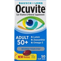 Bausch & Lomb Ocuvite Eye Vitamin & Mineral Supplement for Adults 50+, 50-Count Soft Gels