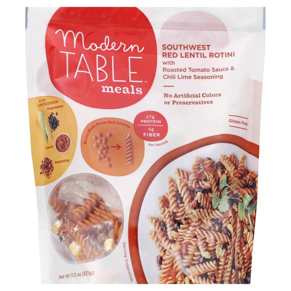 Modern Table Meals Southwest Red Lentil Rotini