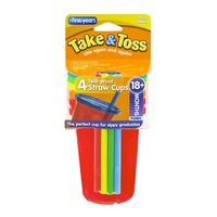The First Years Take & Toss Spill-Proof Straw Cups 18+ Months - 4 CT