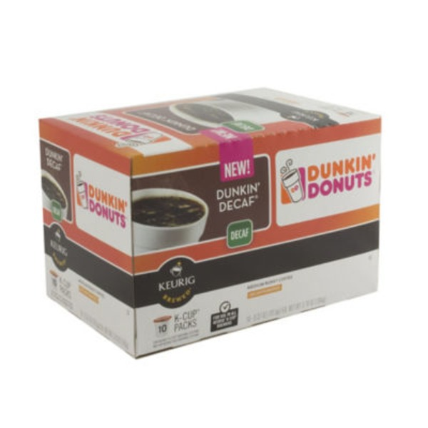 Dunkin' Donuts K-Cup Pods Medium Roast Dunkin Decaf - 10 CT