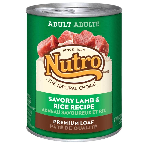 Nutro Grass Fed Lamb & Brown Rice Premium Loaf Adult Dog Food