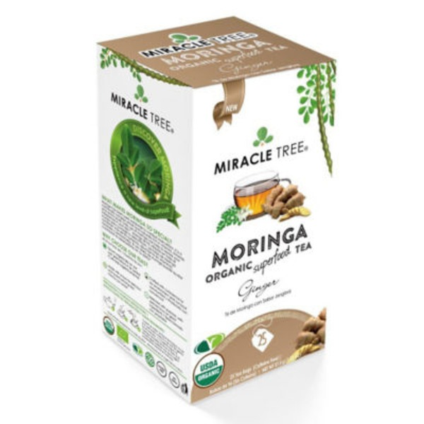 Miracle Tree Organic Moringa Ginger Tea Bags