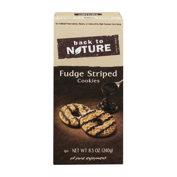 Back to Nature Fudge Striped Cookies