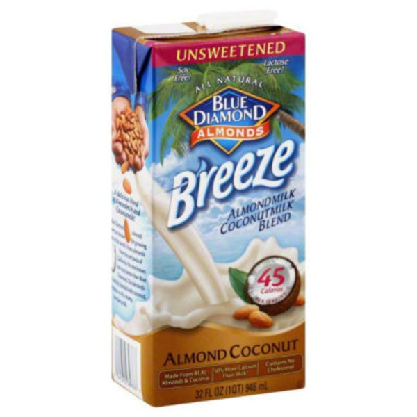 Blue Diamond Almond Breeze Original Unsweetened Almond Coconut Almondmilk/Coconutmilk Blend