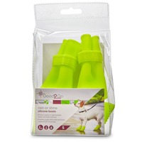 Good2 Go Rain or Shine Silicone Boots Small for Dogs