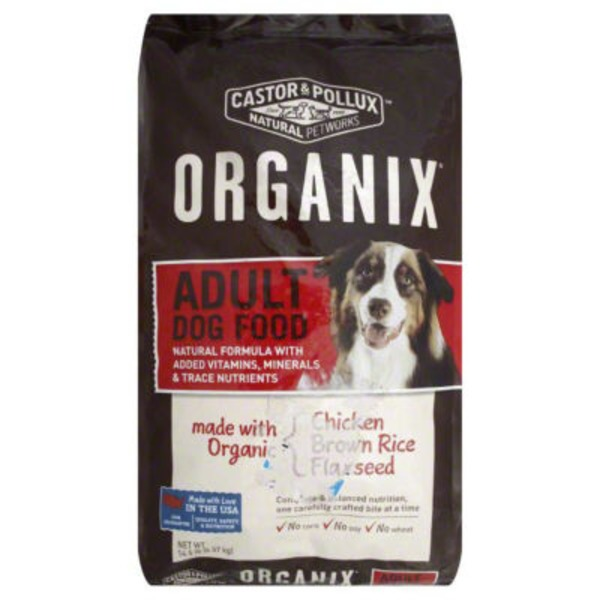 Organix Adult Dog Food, Chicken, Brown Rice, Flaxseed, Bag