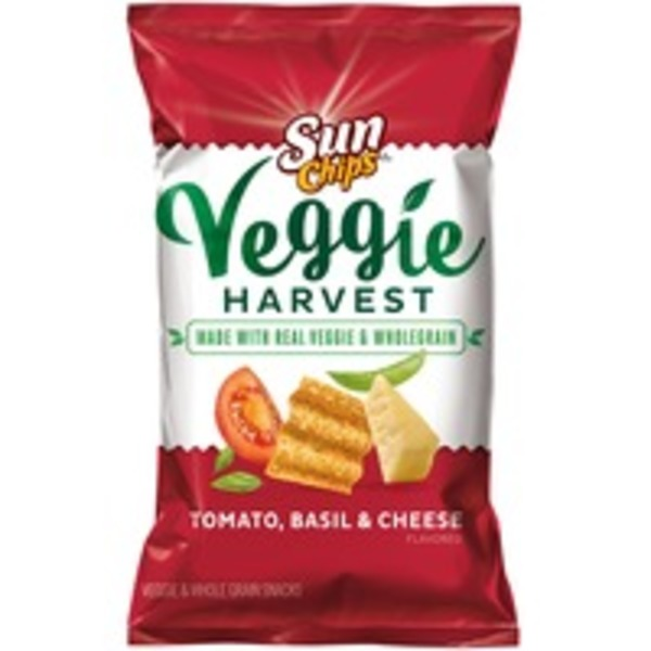 Sun Chips Veggie Harvest Homestyle Tomato Herb and Cheese Veggie & Whole Grain Snacks