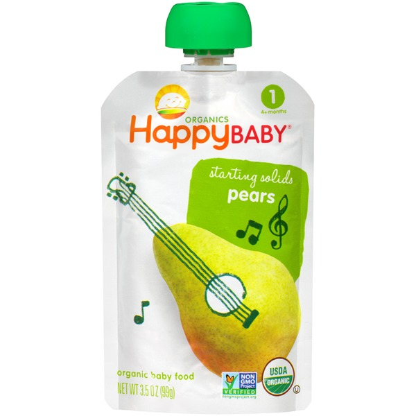 Happy Baby/Family Starting Solids Pears Organic Baby Food