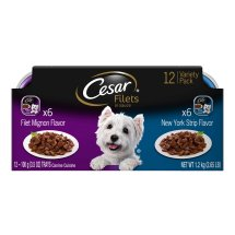 Cesar Gourmet Filets Variety Pack Filet Mignon & New York Strip Flavor Dog Food (12 Count)