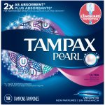 Tampax Pearl Ultra Plastic Tampons, Unscented, 18 Count