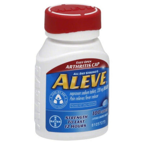 Aleve Arthritis Cap Naproxen Sodium 220mg Caplets Pain Reliever/Fever Reducer