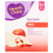 Parent's Choice Rice Rusks Stage 2, Apple Rice Snack, 1.76oz