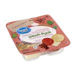 Great Value Lunch Pack, Pepperoni, Mozzarella Cheese, Flavored Crackers, 3.20 oz
