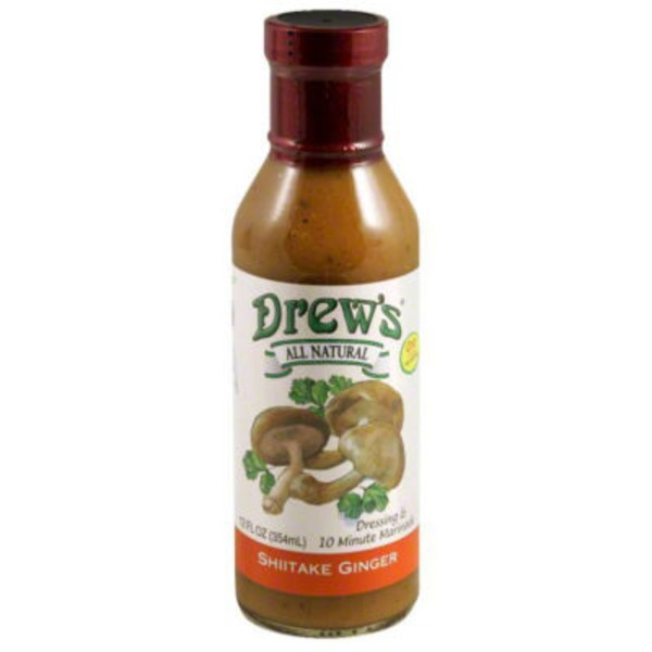 Drews Dressing, & Quick Marinade, Shiitake Ginger, All Natural, Bottle