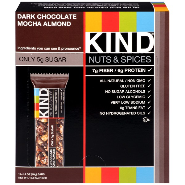 Kind Nuts & Spices Dark Chocolate Mocha Almond Snack Bars