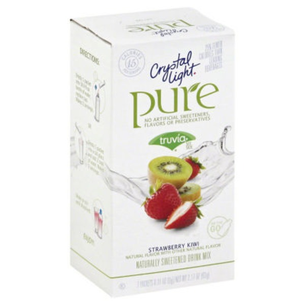 Crystal Light Pure Strawberry Kiwi On the Go Drink Mix