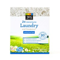 365 2x Concentrated Unscented Powdered Laundry Detergent