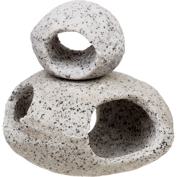 Penn-Plax Hide Away Stackable Stone Aquarium Ornaments Pack Of 2