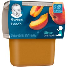 Gerber 2nd Foods Peaches, 4 Ounce Tubs, 2 Count