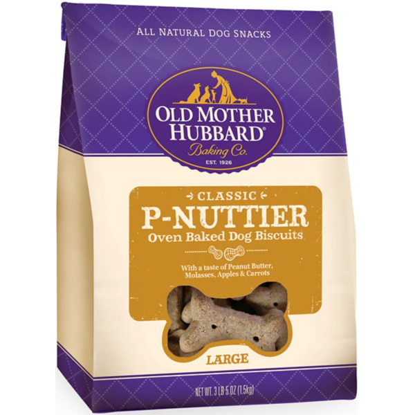 Old Mother Hubbard Classic P-Nuttier Oven Baked Dog Biscuits, Large