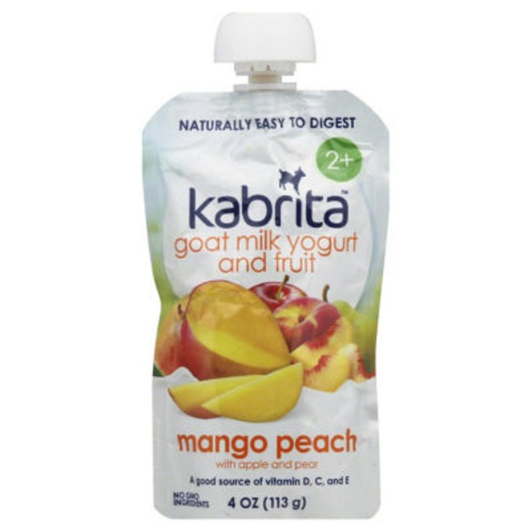 Kabrita Tots Mango Peach Goat Milk Yogurt Baby Food