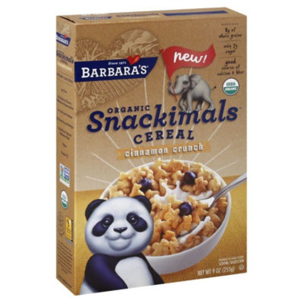 Snackimals Cereal Organic Cinnamon Crunch Cereal