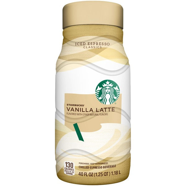 Starbucks Iced Espresso Vanilla Latte Chilled Espresso Beverage
