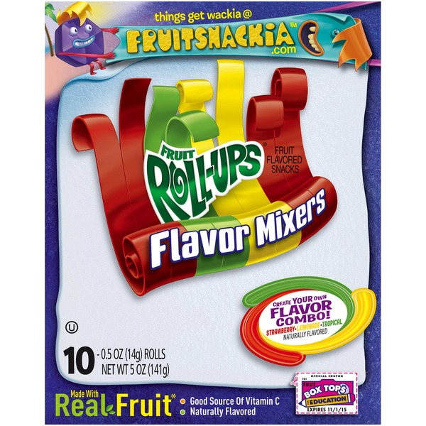Betty Crocker Fruit Roll-Ups Flavor Mixers Fruit Flavored Snacks
