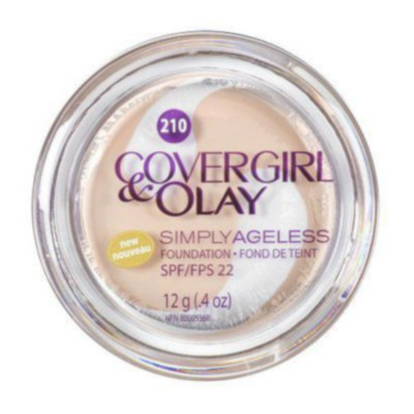 CoverGirl Simply Ageless COVERGIRL & OLAY Simply Ageless Instant Wrinkle Defying Foundation, Classic Ivory .4 oz (12 g) Female Cosmetics
