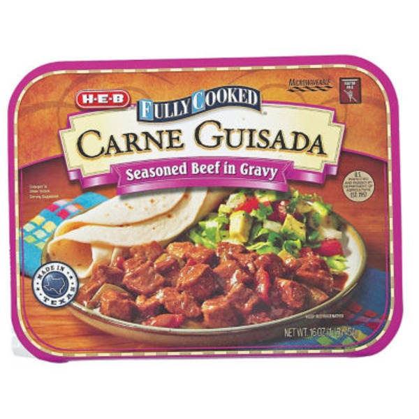H-E-B Fully Cooked Carne Guisada Seasoned Beef In Gravy