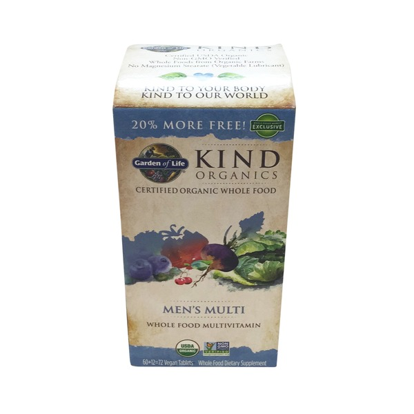 Garden of Life Kind Organics Men's Multi Whole Food Multivitamin