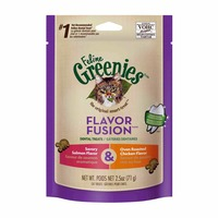 Feline Greenies Flavor Fusion Dental Savory Salmon Flavor & Oven Roasted Chicken Flavor Cat Treats