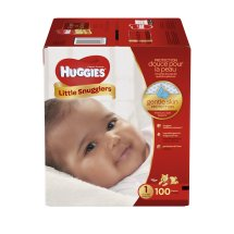 HUGGIES Little Snugglers Diapers Size 1, 100 Diapers